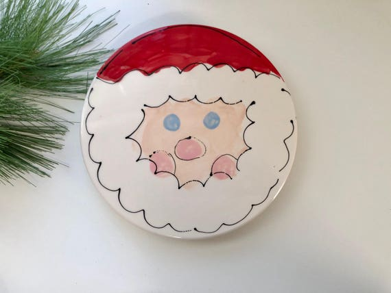Hand painted ceramic Christmas trivet
