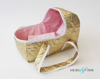 LIMITED EDITION Doll baby carrier SMALL - doll bassinet crib bunting bag baby basket Ready to ship