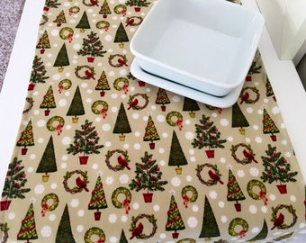 Christmas Table Runner | Christmas Centerpiece | Christmas Table Decor | Christmas Tree Table Runner | Shaby Chic Table Runner