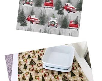 Christmas Table Runner   2 Choices   Christmas Centerpiece   Christmas Table Decor   Christmas Tree Table Runner   Snow Table Runner