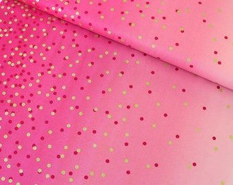 Hot pink Ombre Confetti Metallic by V and Co for Moda - 10807 14M