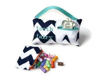 Reserved Listing: Two Personalized Tooth Fairy Pillows plus Two 20 unique messages for Caroline
