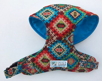 Southwestern, Aztec Comfort Soft Dog Harness - Made to Order -