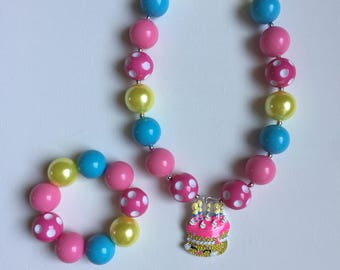 Shopkins Birthday Jewelry - Little Girl Jewelry - Shopkins Bracelet - Shopkins Party Favors - Shopkins Party -Shopkins Necklace - Shopkins