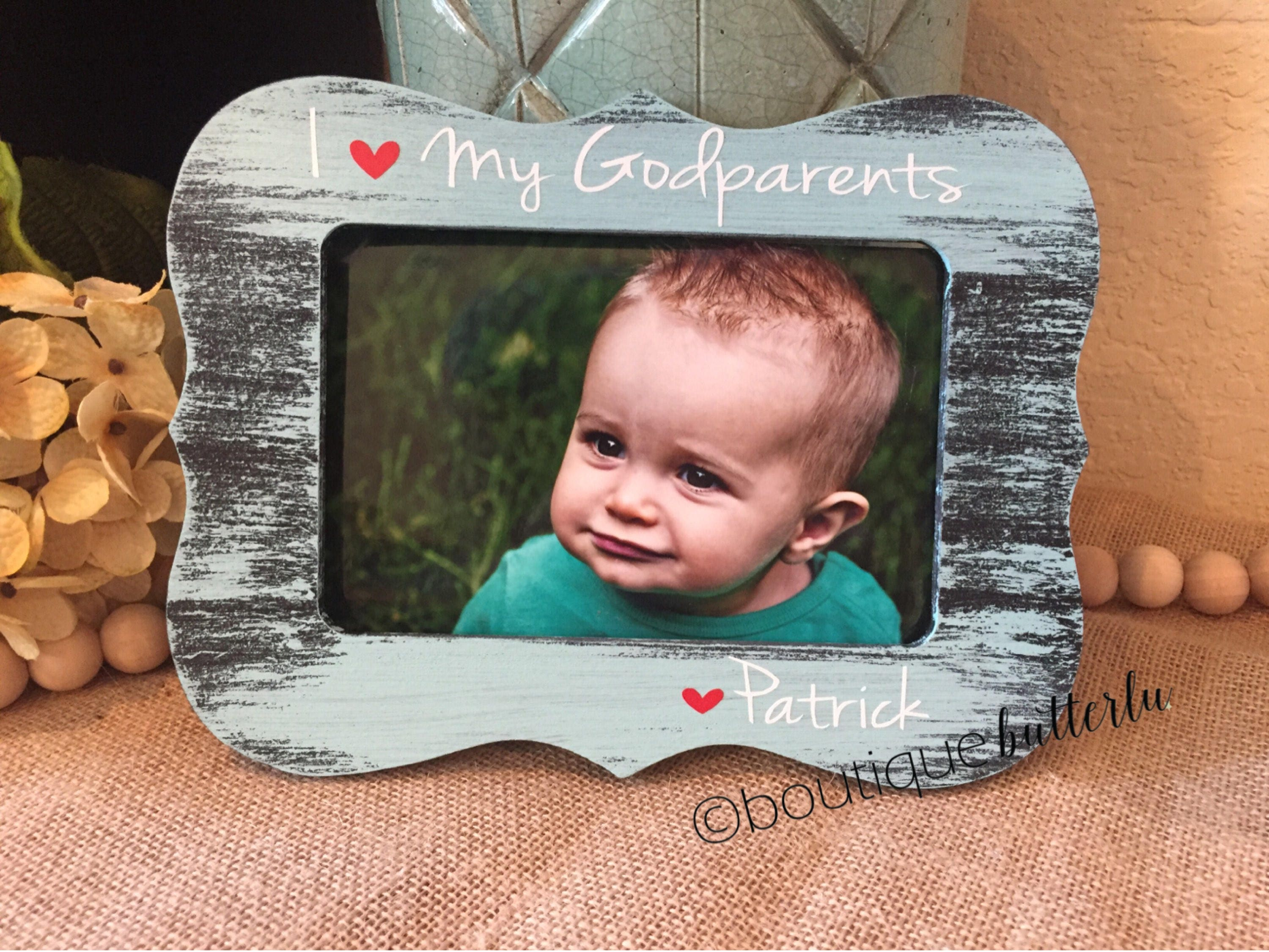 Godparents Gift Godparents Picture Frame I Love My Godparents 4x6
