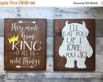 Where The Wild Things Are Baby,  King Of All The Wild Things, Woodland Nursery, baby shower, party decor