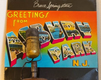 "ON SALE Bruce Springsteen Vinyl Debut Lp ""Greetings from Asbury Park, N.J."" (RARE Sealed 1979 Cbs w/ ""Blinded by the Light"", ""Growin Up"")"