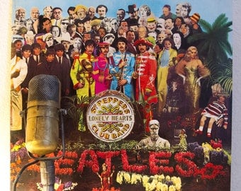 "The Beatles Vinyl LP 1960s British Pop Masterpiece ""Sgt. Pepper's Lonely Hearts Club Band"" (1980s Capitol Re-Issue)"