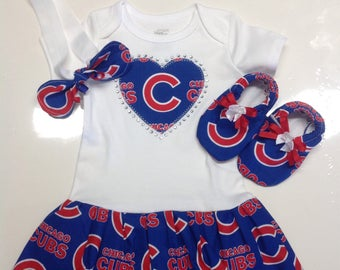 Chicago Cubs Inspired Baby Coming-Home Outfit