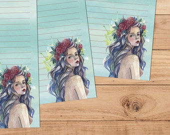 Gypsy Rose - A5 Stationery - 12, 24 or 48 sheets