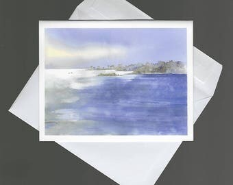 Note Card 4x6 nature gulf of mexico scenic bowman blank notecard Near Porpoise Point florida coast summer happypaints