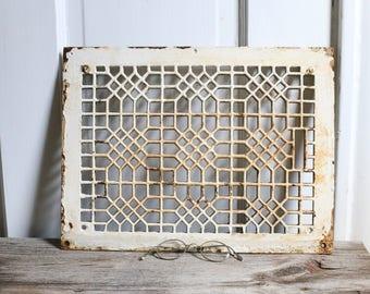 Vintage grate old metal grate