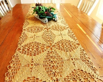 Extra Long Quilted Christmas Holiday Table Runner 16 X