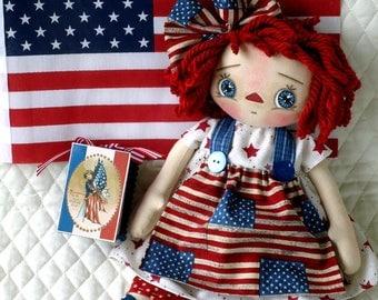 """Americana Raggedy Annie Doll - 14"""""""