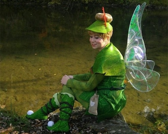 Tinkerbell Cosplay Costume Style Iridescent Fairy wings Halloween