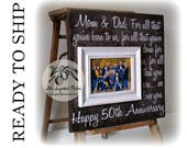 50th Anniversary Gift, READY TO SHIP 16x16 Sugared Plums Frames