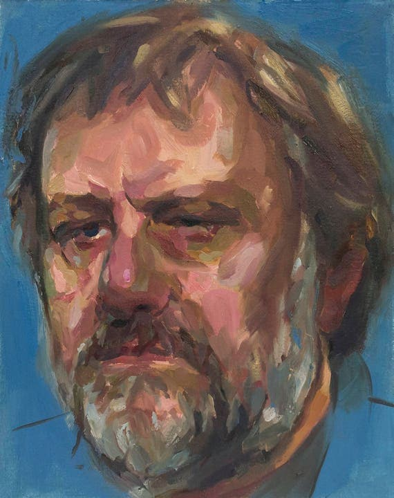 Zizek, Original Oil Painting