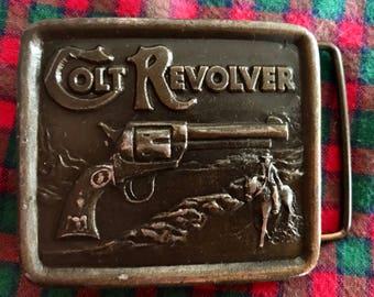 Colt revolver 70's belt buckle