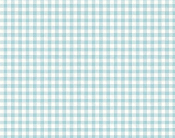 Bake Sale 2 Aqua Gingham by Lori Holt of Bee in My Bonnet for Riley Blake, 1/2 yard
