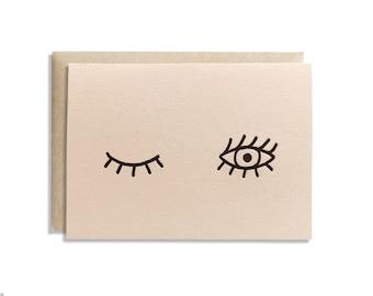Wink Letterpress Greeting Card