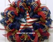RWB Rustic Wreaths, Patriotic Wreaths (2867)