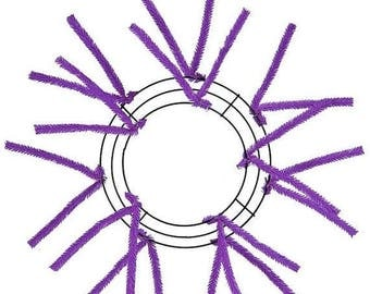 ON SALE 10 Inch Purple Deco Mesh Wreath XX167823, Poly Mesh Supplies