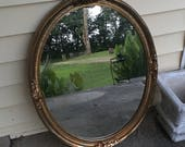 Reserved, Oval Ornate Mirror, To Be Painted White