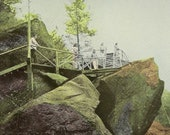 Polar Caves New Hampshire Outlook From Top of World's Largest Boulder Unused Vintage Postcard