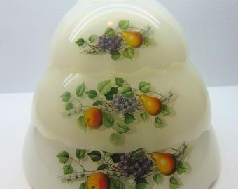 Vintage Arcopal Bowls , Milk Glass  Bowls