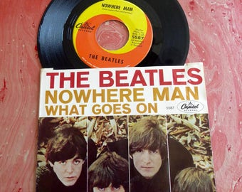 The Beatles 1966  NOWHERE MAN / What Goes On  45  Record w/sleeve Capitol Records 5587