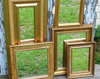 5 Ornate Shades of Gold Wall Mirrors Shabby Chic Home Decor