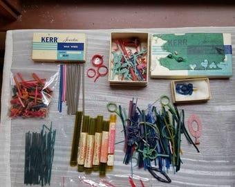 Vintage Large Lot of Wax Wire Wax Sheets Jewelry Wax Jeweler Supplies Kerr