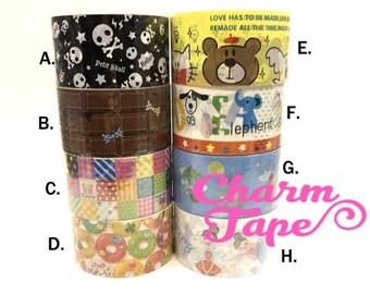 Deco Tape Stickers - Chocolate bars / skull / cat / ballet dancer Jumbo Size DTB152