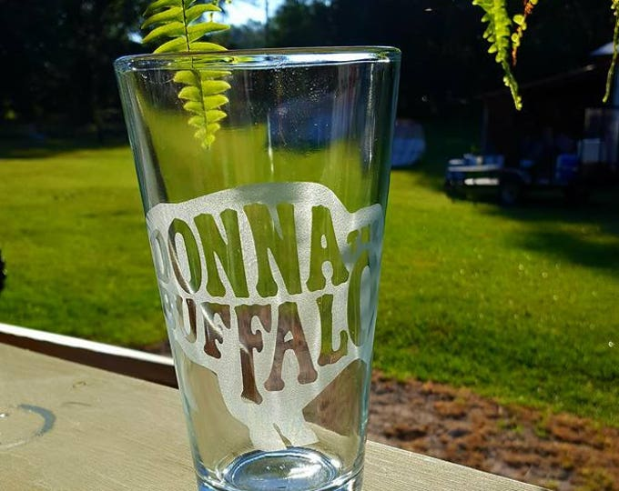Donna the Buffalo Glass Etched Pilsner Glass or 22 oz Beer Mug Dead Head