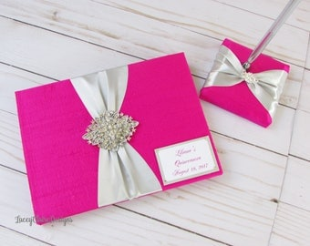 Wedding Guest Book | Reception Guest Book | Autograph Book | Reception Book | Guest Signature Book | Guest Book and Signing Pen |Custom