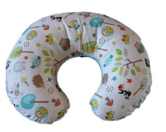 SALE- Boppy cover, cotton boppy cover, boy boppy cover, nursing pillow cover, baby shower gift,  Ships Today