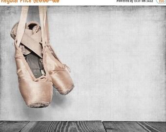 WEEKEND SALE Vintage Ballet Slippers, Photo Print, Girls Room Decor, Girls Nursery, Wall Art, Art decor, Girls room Ideas,
