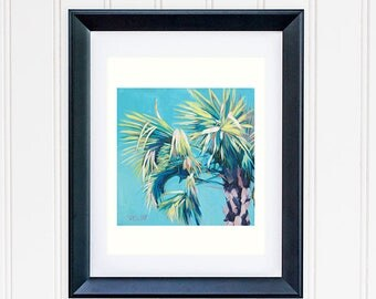 Banana Tree Wall Art, Banana Tropical Leaves Print, Beach House Decor, Tropical Banana Tree Painting, Rainforest Wall Decor Art