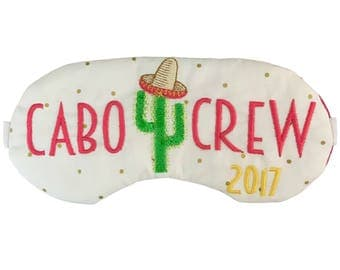 The Original Cabo Crew Cactus Sleep Masks for Bachelorette Party Girls Trip