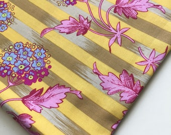 Early Kaffe Fassett Lille Collection Hydrangea Stripe LC02  Fabric, OOP, Rare, Fat Quarter