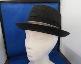Towncraft Black Straw Hat