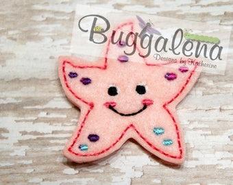 Starfish Feltie Embroidery Design