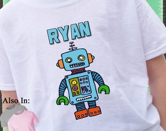 FLASH SALE ROBOT Shirt Personalized with name I love Robots Irobot