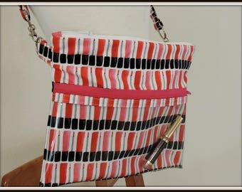 clear pocket bag, lipgloss print crossbody bag, lipstick lipgloss bag, lipsense rep bag, direct sales purse, catalogue display purse