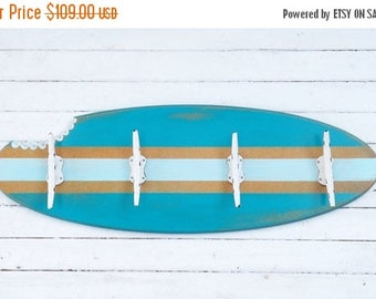ON SALE Surf Board Decor~Nautical~Nautical Nursery~Beach~Rustic~Pool House~Coastal~Surf Board Rack~Surf Board Hook