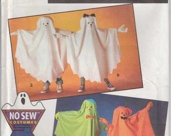 Ghost Pattern NO Sew Costume Pattern Child Size Small Medium Large Simplicity 8648