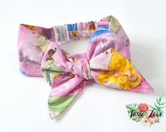 Disney Princess Bow Headband (Sizes Newborn -Adult) disney baby shower gift, disney princess birthday party, princess headband, big pink bow