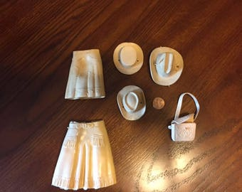 VINTAGE MARX Accessories Beige 6 pieces