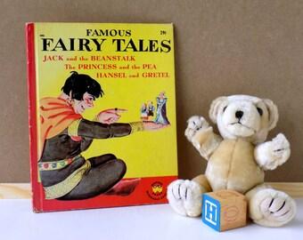 1949 Famous Fairy Tales. Wonder Books. Eleanor Graham. Mervin Jules. Children's Book. Vintage Baby Nursery Decor. Kid's Fairy Tales.