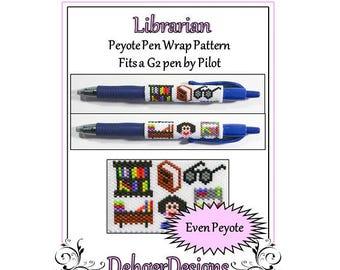 Bead Pattern Peyote(Pen Wrap/Cover)-Librarian